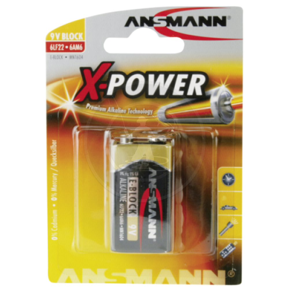 ANSMANN X-POWER 9V (1ΤΜΧ)